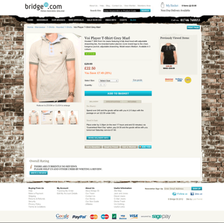Bridge 55 e-Commerce UI Screenshot