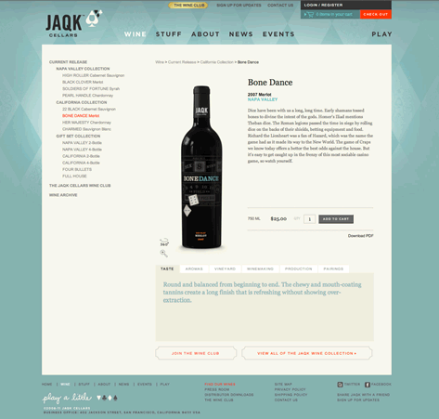 Jaqk Cellers e-Commerce UI Screenshot